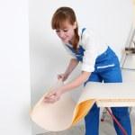 Frau Vorbereitung wallpaper — Stockfoto