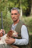 Senior man hunting — Stock Photo