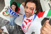 Italské fotbalové příznivce — Stock fotografie