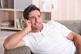 Man on the phone — Stock Photo