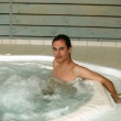 Man sat in jacuzzi — Stock Photo