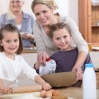 Three generations of women baking. — Stock Photo #9232857