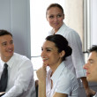 Dynamic young business team — Stock Photo #9232895