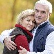 Portrait of a couple hugging - Foto Stock