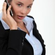 Cute young businesswoman on the phone — Stock Photo