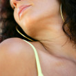 Sensual woman with eyes closed — Stock Photo