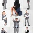 diverse foto's van mannelijke en vrouwelijke bedrijfspersonen — Stockfoto