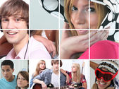 Images of adolescence — Stock Photo