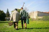 Dos hombres para hacer jardinería — Foto de Stock