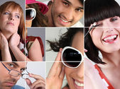 Montage showing variety of eye-wear — Stock Photo