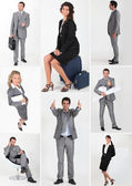 Miscellaneous snapshots of male and female business persons — Stock Photo