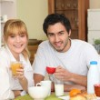 Couple having breakfast — Stock Photo #9287800