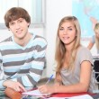 studenti in classe — Foto Stock