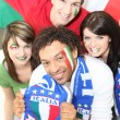 Italian football fans — Stock Photo