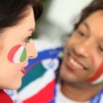 Italian football fans — Stock Photo