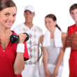 A group of athletes — Stock Photo
