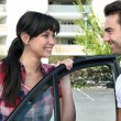 Smiling couple going for a ride — Stock Photo #9289364