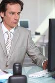 Middle-aged executive — Stock Photo