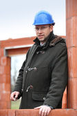 Foreman on construction site — Stock Photo
