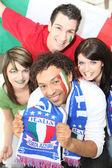 Włoskich kibiców — Zdjęcie stockowe