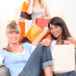 Friends after a shopping trip — Stock Photo #9296340