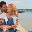 Couple embracing at the pier — Stock Photo #9297462