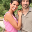 Couple outdoors in the summertime — Stock Photo