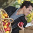 Couple picking apples — Stock Photo #9306554