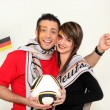 Couple supporting the German football team — Stock Photo #9307862