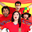 Spanish football fans — Stock Photo