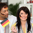 Patriotic German couple — Stock Photo