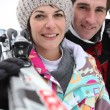 Ski couple — Stock Photo