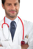 Doctor with stethoscope — Stock Photo