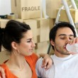 Couple moving into new home — Stock Photo #9310197