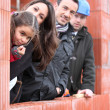 Family on a construction site — Stock Photo #9310999