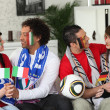 Stock Photo: Italiand Germsoccer fans