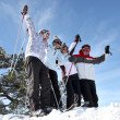 Group in ski holidays — Stock Photo #9315870