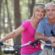 Couple biking — Stock Photo #9316051