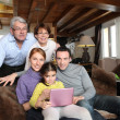 Stock Photo: Cozy family portrait