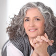Grey-haired lady — Stock Photo