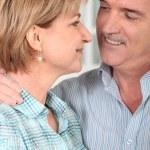Senior couple embracing — Stock Photo #9319847