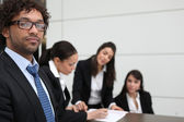 Driven young business team — Stock Photo