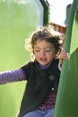 Girl on a slide — Stock Photo