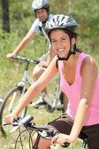 Couple cycling — Stock Photo