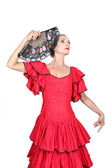 Portrait d'une femme en costume de flamenco — Photo