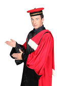 Man wearing hat and cloak — Stock Photo