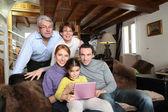 Samimi bir aile portresi — Stok fotoğraf