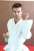 Young practicing judo — Stock Photo