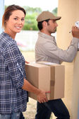 Delivery package collecting — Stock Photo