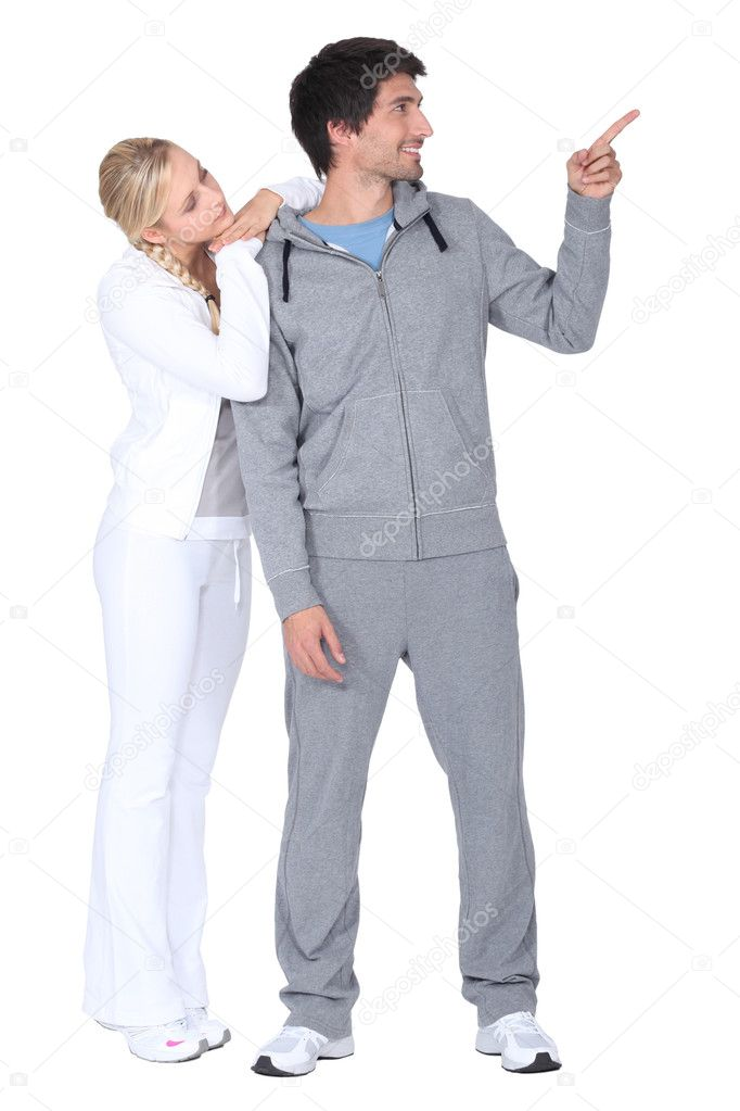 Couple in tracksuit — Stock Photo #9314607